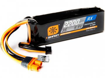 Spektrum Smart LiFe 9.9V 2200mAh Rx IC3 SPMX22003SLFRX