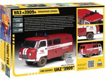 Zvezda UAZ 3909 Fire Service (1:43) ZV-43001