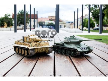 Súbojové infra tanky Tiger a  T34 v mierke 1:16