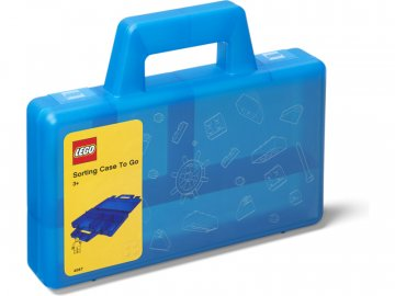 LEGO To Go úložný box s přihrádkami - modrá LEGO40870002
