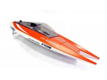 Double Horse: loď FT016 2,4 GHz RTR (47cm, 30km / h, motor triedy 540) - oranžová