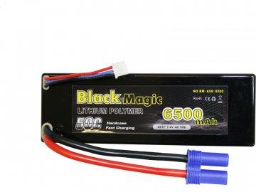 Black Magic LiPol Car 7.4V 6500mAh 50C EC3 BMA50-6500-2E