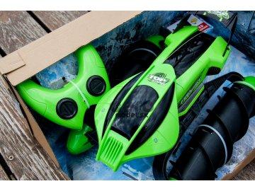 Obojživelník Amphibious Stunt Car, zelená farba