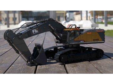 HUINA Pásový bager s kovovou lyžicou ACV 730 2,4GHz 1:14