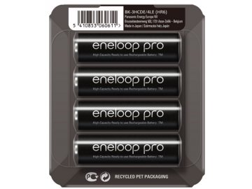 Nabíjateľné tužkové batérie Panasonic