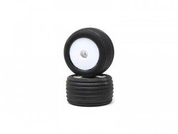 Losi kolo s pneu Direct, přední, bílý disk (2): Mini-T 2.0 LOS41014
