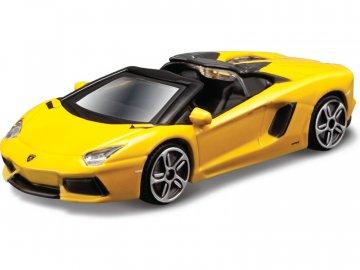 Bburago Lamborghini Aventador LP 700-4 Roadster 1:43 žlutá BB18-30249