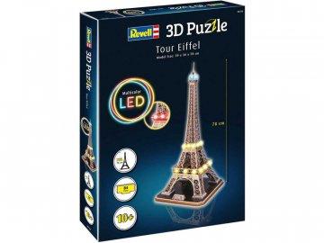 Revell 3D Puzzle - Eiffelova věž s LED osvětlením (78cm) RVL00150