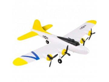 RC lietadlo P-38 Lightning 2,4 GHz RTF (rozpätie krídel 43 cm) - strieborná