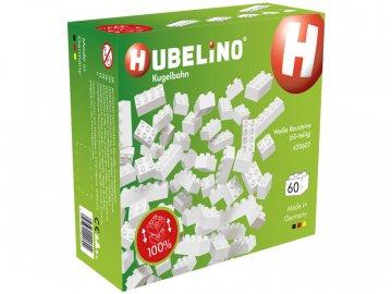Hubelino HUBELINO Kuličková dráha - kostky bílé 60 dílků HUB420602