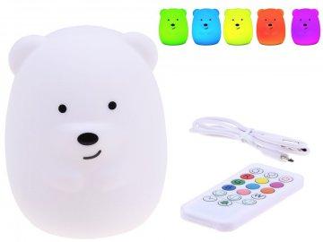 LED Teddy Bear, Silikónový- nočná lampa s diaľkovým ovládaním