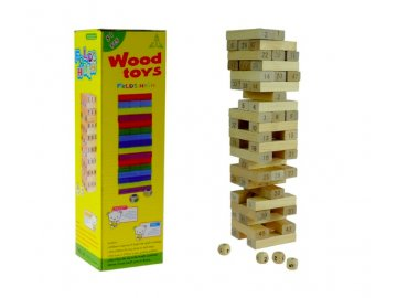Drevená veža pozostávajúca z 48 blokov