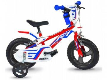 """Dino-Bikes DINO Bikes - Dětské kolo 12"""" červeno/modro/bílé DB-812L"""