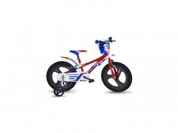 """Dino-Bikes DINO Bikes - Dětské kolo 16"""" červeno/modro/bílé DB-816L"""
