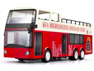 Double Eagle: Dvojposchodový autobus 1:18, 2,4 GHz, RTR - červený
