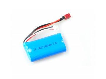 Akumulátor Li-Ion 7,4V / 2000 mAh, 2 články, T-plug + servisný kábel pre autá Across
