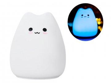Silikónová LED Mačička