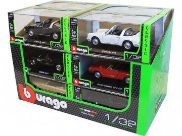 Bburago sada modelů aut Classic 1:32 12ks BB18-43210X