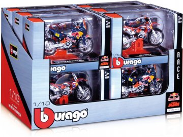 Bburago sada modelů motocyklů Red Bull KTM 1:18 12ks BB18-51073