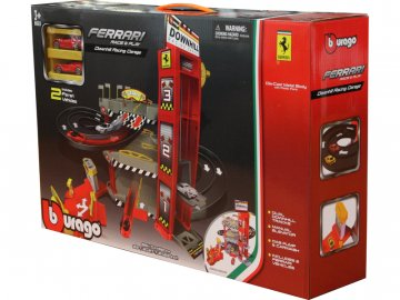 Bburago Ferrari dráha s výtahem a automyčkou BB18-56096