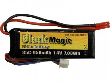 Black Magic LiPol 7.4V 950mAh 35C JST BMF35-0950-2JST