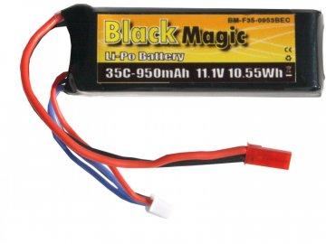 Black Magic LiPol 11.1V 950mAh 35C JST BMF35-0950-3JST