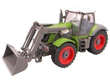 Traktor s lyžicou a vyklápacou vlečkou 1:28