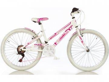 """Dino-Bikes DINO Bikes - Dětské kolo 24"""" Aurelia Game Kit růžové DB-1024G"""