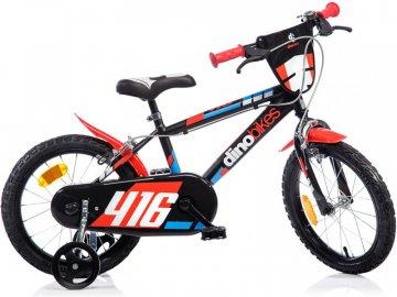 """Dino-Bikes DINO Bikes - Dětské kolo 16"""" černo-červené DB-416US"""