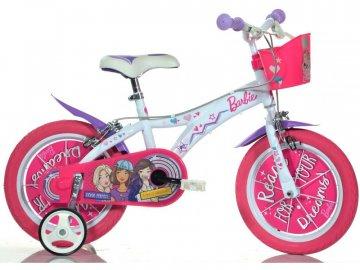 """Dino-Bikes DINO Bikes - Dětské kolo 16"""" Barbie s košíkem DB-616GBA"""