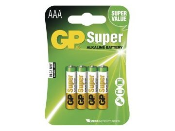 alkalické batérie