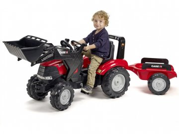 Falk FALK - Šlapací traktor Case IH Puma 240CVX s nakladačem a vlečkou FA-996AM