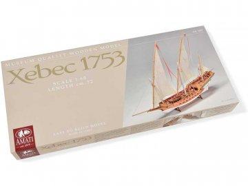 Amati AMATI Sciabecco pirátská loď 1753 1:60 kit KR-25027