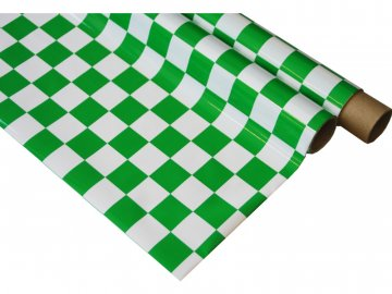 Super Flying Model IronOnFilm - kostkovaná bílo/zelená 0.6x2m NA022-027