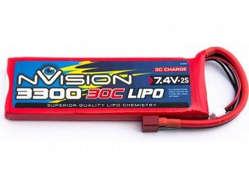 nVision LiPol 3300mAh 7.4V 30C NVO1805