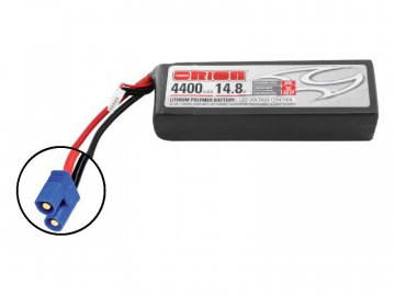 Team Orion LiPol 4400mAh 4S 14.8V 50C EC3 LED ORI60197