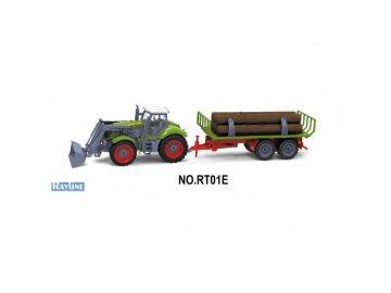 rc kolovy traktor s vleckou dreva