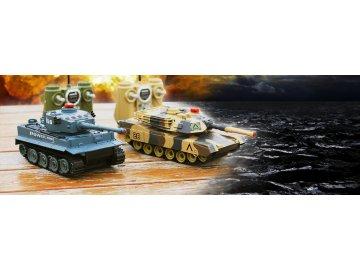 Sada bezpečných infra tankov 1/24, 2v1 na diaľkové ovládanie