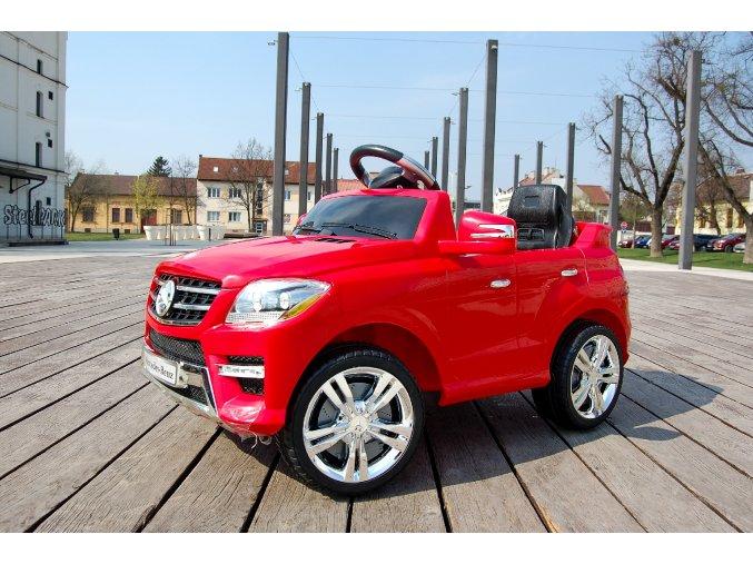Detské elektrické autíčko s rodičovským diaľkovým riadením štýl Mercedes, červené