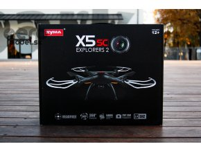 RC kvadrokoptéra Syma X5SC (s HD kamerou 720p.), čierna