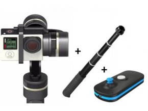 Gimbal FEIYA Tech FY-G4S + diaľkové + miniUSB rukoväť G4SP pre GoPro HERO 4