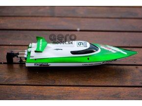Rýchlostný RC čln FT009, zelený