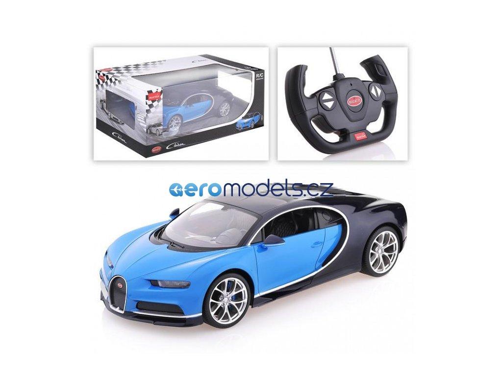 Rastar RC Bugatti Chiron 1:14 RTR - modrá