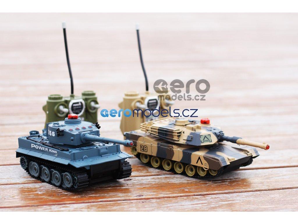 Sada bezpečných infra tanků 1/24, 2v1 na dálkové ovládáni