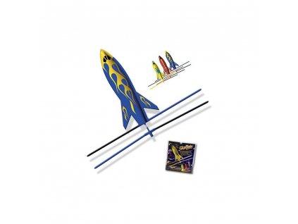 Raketa SkyBlades Hybrid Rockets s gumovým pohonem