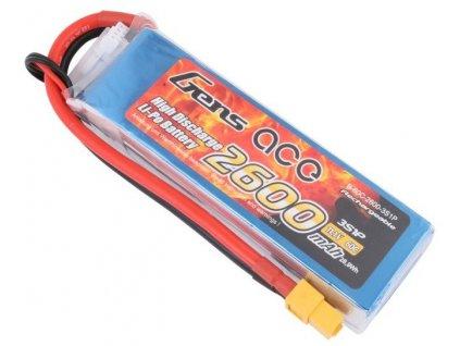 Baterie Gens Ace Tatto: 2600mAh 11.1V 60C XT60 Gens Ace