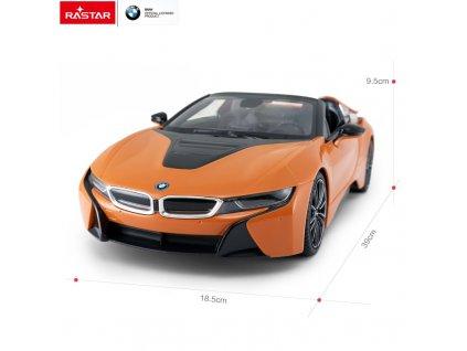 Rastar: BMW i8 1:12 2.4GHz RTR - orange