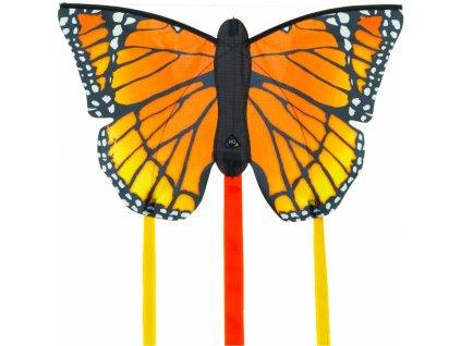 Drak motýl oranžový 52 cm