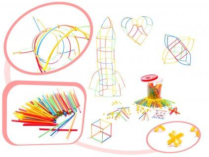 Slamková stavebnice pro děti - BOX 400
