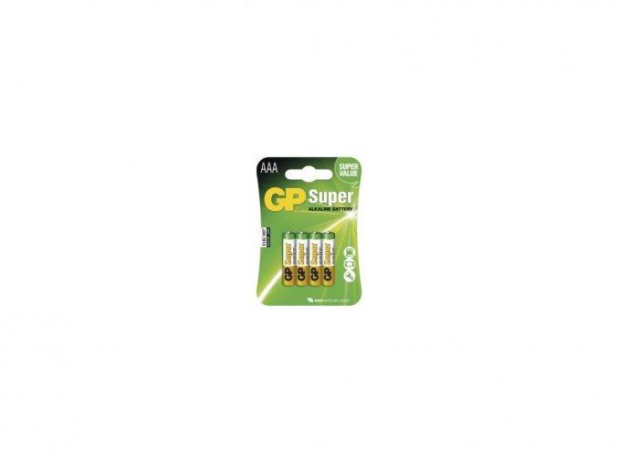 Alkalické batérie GP super 1,5V AA(cena za 4ks)